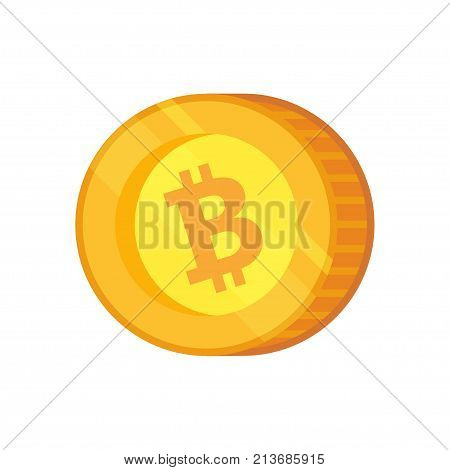 Bitcoin Cash vector icon. Cryptocurrency with huge market capitalization. Based on blockchain technologie.