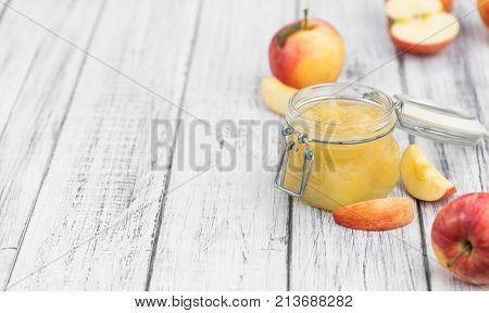 Portion Of Homemade Applesauce (selective Focus)