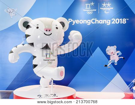 The Official Symbol Of The 2018 Winter Olympics In Pyeongchang