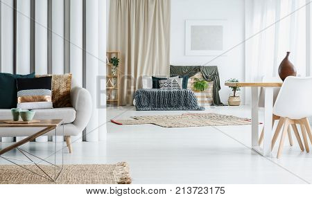 Multifunctional Living Room With Bed