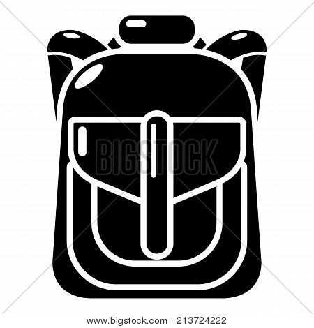 Backpack element icon. Simple illustration of backpack element vector icon for web