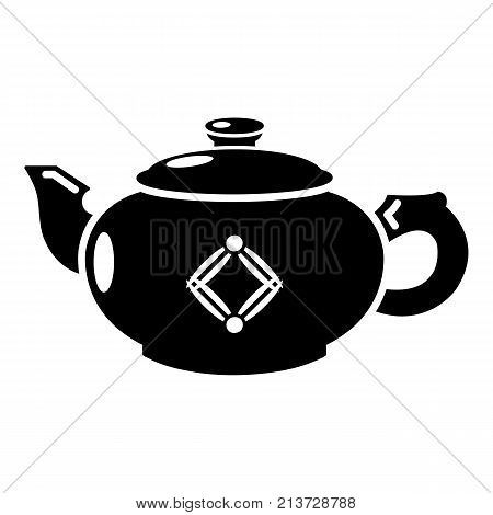 Kettle glass icon. Simple illustration of kettle glass vector icon for web