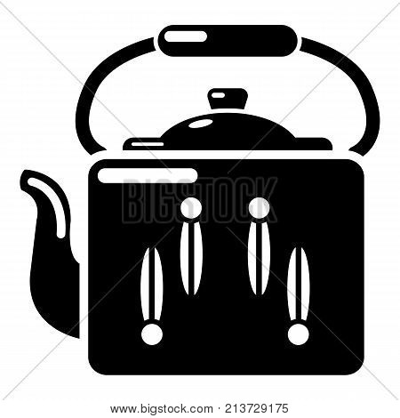 Kettle retro icon. Simple illustration of kettle retro vector icon for web