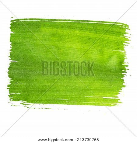 Ecology green banner, eco green textured banner isolated on white background
