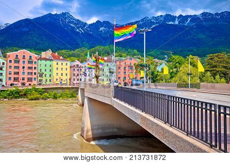 Colorful Innsbruck Architecture And Inn River View