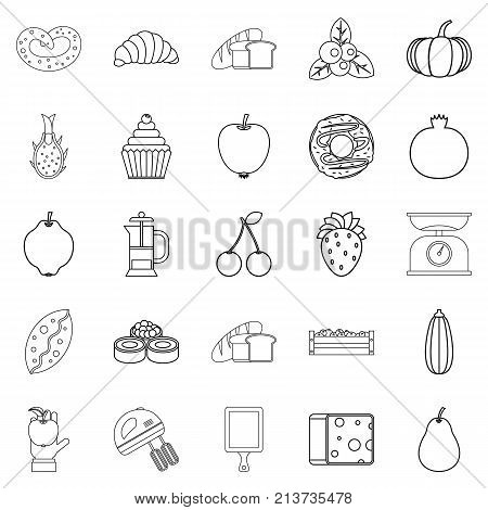 Collective farm icons set. Outline set of 25 collective farm vector icons for web isolated on white background