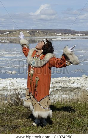 Dancing Chukchi woman
