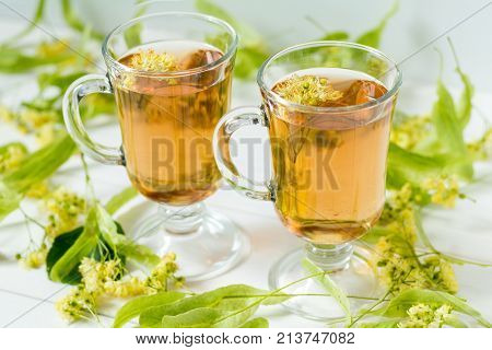 Linden Tea In Transparent Grog Glass