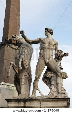 Dioscuri statue