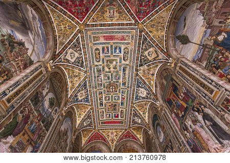 The Piccolomini Library, Siena Cathedral, Siena, Italy