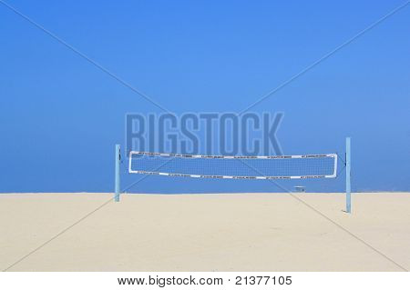 Volley Ball Net on the Beach