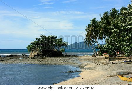 A beach front
