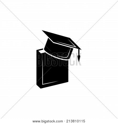 Book and bachelor hat icon. Vector graduation Icon. Education academic degree. Premium quality graphic design. Signs outline symbols collection simple icon for websites web design mobile app on white background
