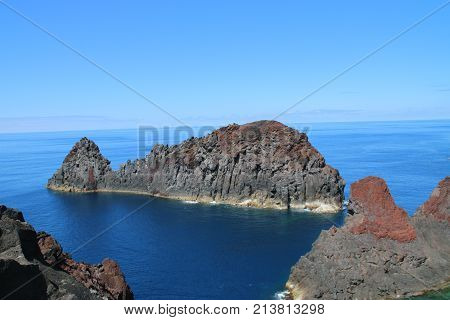 Photo of island in rock with whale format