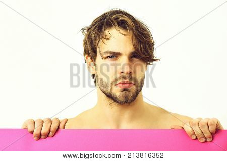 Bearded Man, Caucasian Sexy Upset Macho