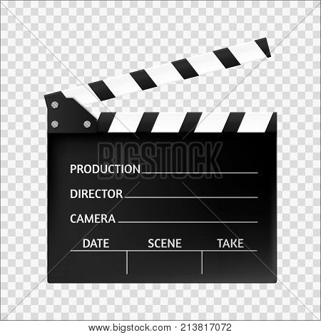 Movie clapper isolated. Movie icon. Vector illustration