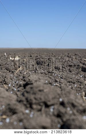 agro agriculture arable land field. plowed land
