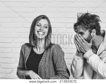Happy Young Couple Laugh