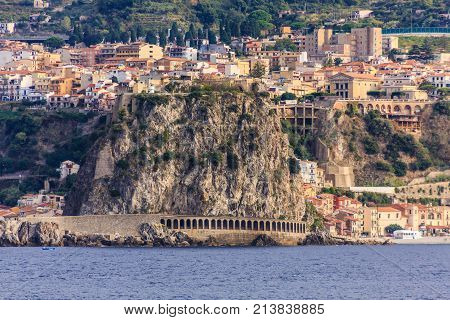 City on the Rocky Coast in Messina Strait