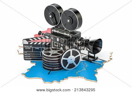 Luxembourg cinematography film industry concept. 3D rendering isolated on white background