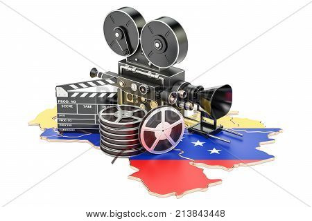 Venezuela cinematography film industry concept. 3D rendering isolated on white background