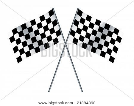 An image of two crossed formula1 flags