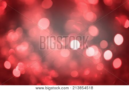 Red Christmas Defocused Abstract Background.