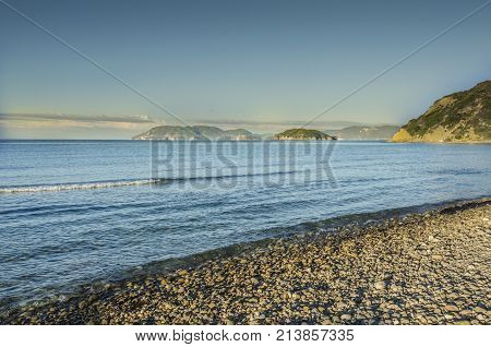 Beaches either of stones or fine golden sands on a sea of clear waters and mountains that fall abruptly to the sea generating caves and capricious rock formations characterize the Ionian sea.