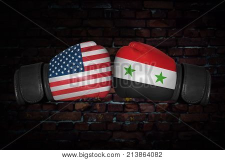 A Boxing Match Between The Usa And Syria