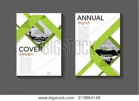 green cover abstract design cover background modern book Brochure cover templateannual report magazine and flyer layout Vector a4