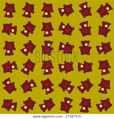 Cyclop Bear Funny Pattern