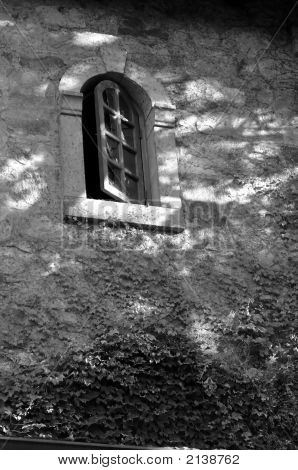 Castle Window Black And White