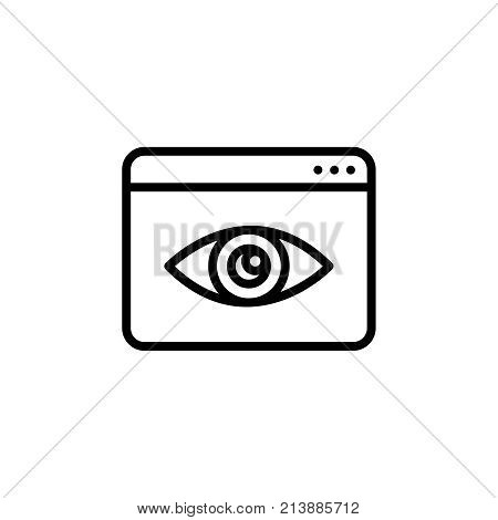 Premium observation and monitoring icon or logo in line style. High quality sign and symbol on a white background. Vector outline pictogram for infographic, web design and app development.