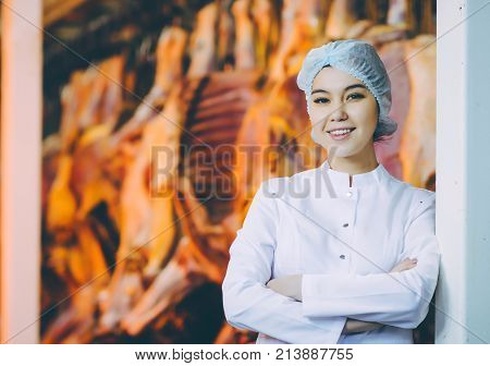 Raw meat production factory worker industry process