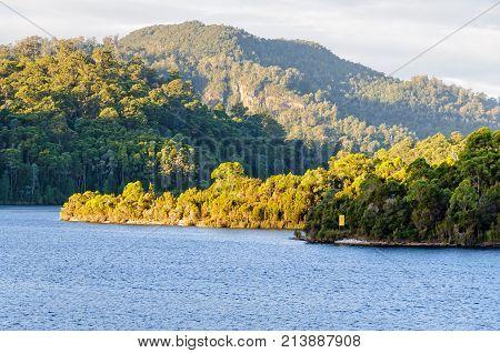 Lake Rosebery is a man-made reservoir in the West Coast region of Tasmania, Australia