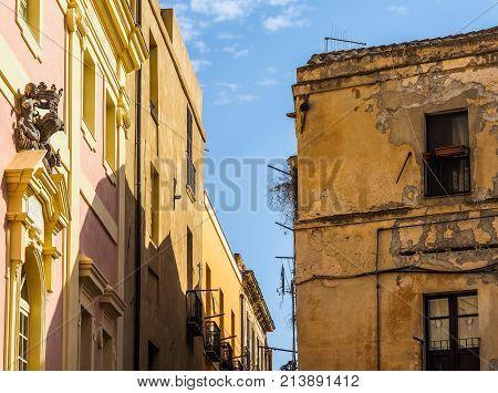 Castello Quarter In Cagliari (hdr) (hdr)