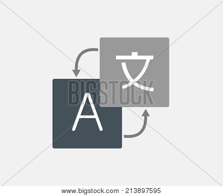 Translations icon. Language translation icon vector illustration