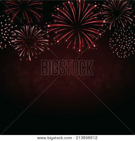 Firework Sparkle Background Card