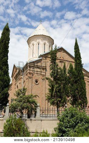 Ejmiatsin Armenian Cathedral, Avlabari, Tbilisi, Georgia. Sunny day