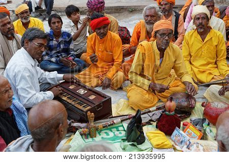 Pushkar, India, October 29, 2017 : The Peak Celebrations Of The Fair Occur On The Full Moon Day Of K