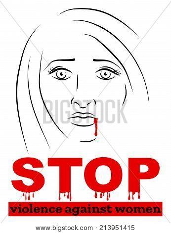 Poster for International Day for the Elimination of violence against women. Vector illustration eps10. poster