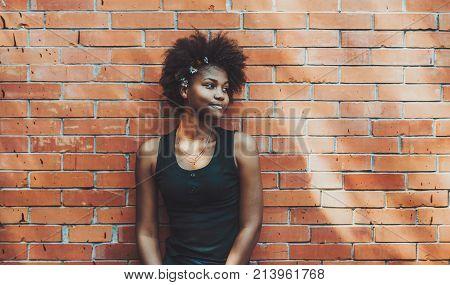 Very young ebony teen
