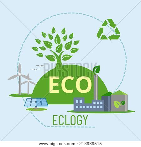 A banner depicting the conservation of nature through an ecosystem. The concept of nature protection. Vector.