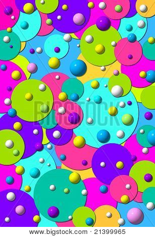 Dots Large Small And 3D Two