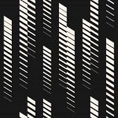 Abstract geometric seamless pattern with vertical fading lines, tracks, halftone stripes. Extreme sport style illustration, urban art. Trendy black white graphic background texture. Sport pattern. Geometric pattern. Lines pattern. Extreme pattern. poster