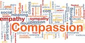Background concept wordcloud illustration of compassion poster