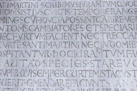 Gravur auf der Lucca Duomo Kathedrale San martino