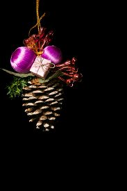A Christmas Tree Conifer Cone Decoration