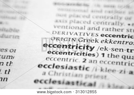 Word Or Phrase Eccentricity In A Dictionary