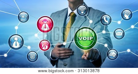 Unrecognizable It Manager Exposing A Security Breach In A Voice Over Internet Protocol Telephone Net
